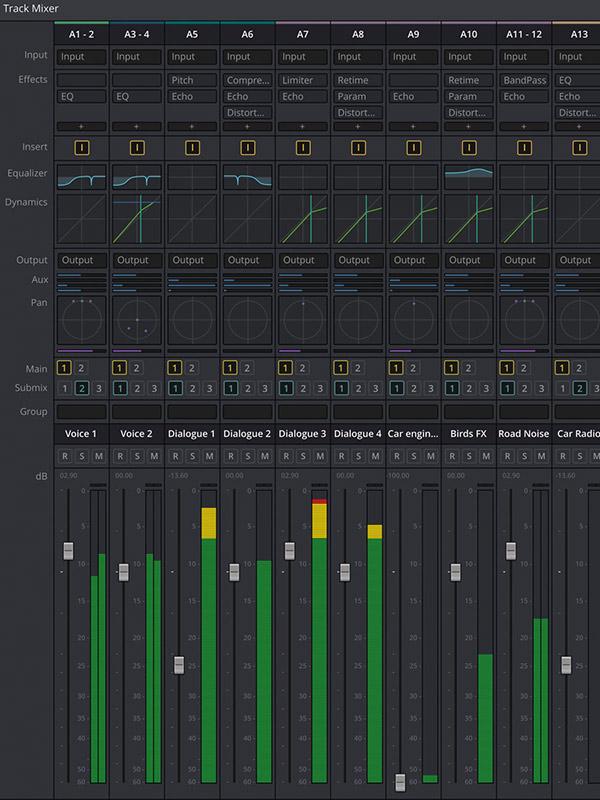 DaVinci Resolve 14 Fairlight audio