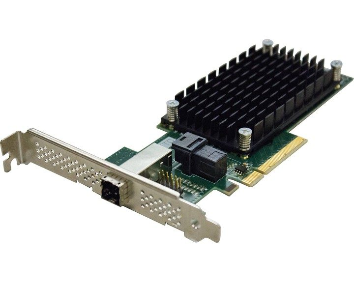 ATTO ExpressSAS H1244 [ PCIe 12Gb 4x internal & external Mini SAS ]