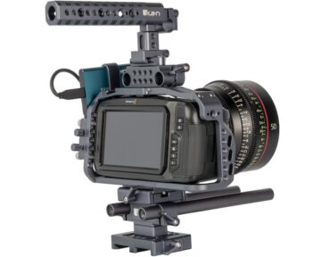 Pocket Cinema Camera met Ikan Stratus cage