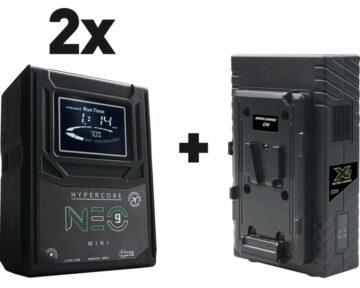 Core SWX 2x Hypercore NEO 9 Mini bundle met GPX2S charger [ V-mount ]