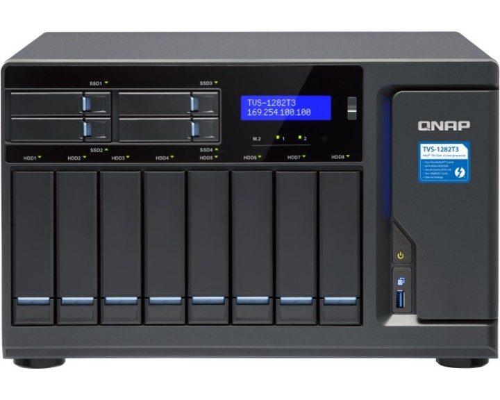 QNAP TVS-1282T3 NAS i7 3.6GHz 32GB [ 4x Thunderbolt3, 2x 10GbE 4x 1GbE ]