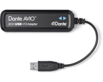 Audinate Dante AVIO 2CH USB I/O Adapter