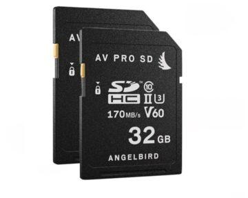 Angelbird AV PRO SD V60 32GB | 2-Pack [ SDHC UHS-II ]