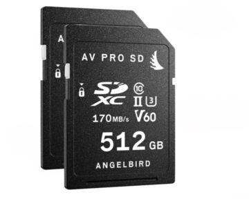 Angelbird AV PRO SD V60 512GB | 2-Pack [ SDXC UHS-II ]