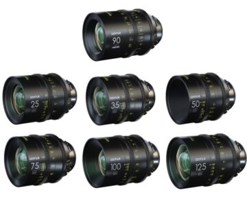 DZOFILM Vespid Prime Full Frame Kit 25, 35, 50, 75, 100, 125mm T2.1 en Macro 90mm T2.8 [ PL ]