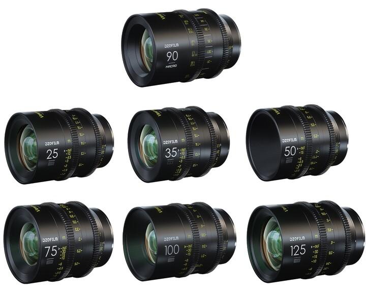 DZOFILM Vespid Prime Full Frame Kit 25, 35, 50, 75, 100, 125mm T2.1 en Macro 90mm T2.8 [ EF ]