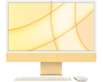 """Apple iMac 24"""" M1 8-core CPU en 8-core GPU [ 8GB 256GB Yellow ]"""