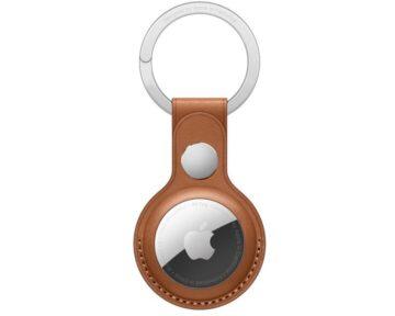 Apple Leren sleutelhanger Saddle Brown [ AirTag ]