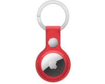 Apple Leren sleutelhanger (PRODUCT)RED [ AirTag ]