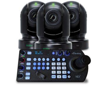 BirdDog 3x EYES P200 PTZ Camera bundle met PTZ keyboard [ HD 30x zoom Black ]
